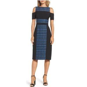 Maggie London Cold Shoulder Fit&Flare Dress